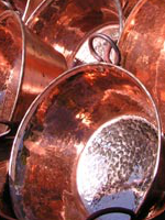 Smooth Copper Sinks Are Manufactured, Often Mass Produced, By Machine With  A Mold Or Press. U201cHand Hammeredu201d Sinks Feature A Textured Surface Created  By The ...